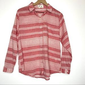 Lils Closet Anthropologie striped Button Up Blouse